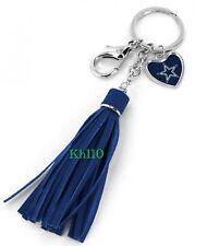 NFL Dallas Cowboys Leather Tassel Key Chain Purse/Hand Bag Charm