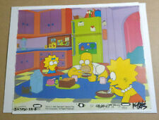 THE SIMPSONS 3 CHARACTER 1990 ANIMATION PRODUCTION CEL HOMER LISA MAGGIE W/ LOA