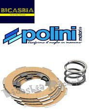 2443 - DISCHI FRIZIONE POLINI RACING 4 CON MOLLA VESPA 50 SPECIAL R L N PK S XL
