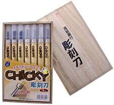 Michihamono 7pcs Chicky Basic Wood Carving Tool Kit U V Gouge Skewed Chisel