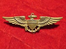 US Navy USN USMC  Pilot wing Vanguard full size pin back 2.75 in PREMIUM Quality