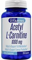 Acetyl L-Carnitine 1000mg 200 Capsules - 100 Day Supply We Like Vitamins