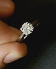 14k white gold Vintage ANTIQUE  ROUND OLD mine CUT 0.96ct  Diamond   ring
