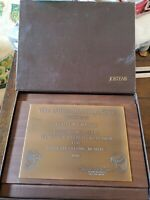 Vintage Jostens Plaque Award Dallas Morning News