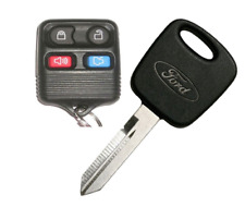 4B REMOTE + Ford H72 Transponder Key Blank TEX 4C chip with LOGO USA Seller