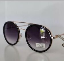 New OSCAR by Oscar de la Renta Women's Sunglasses Round Black/Gold Mod oss3057