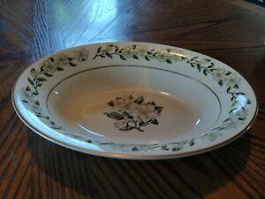 "Princess China Tru-Tone Bridal Wreath 10"" Oval Vegetable Serving Bowl"