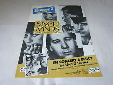 SIMPLE MINDS - EUROPE 1 / BERCY!!!!!FRENCH PRESS ADVERT