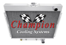 "2 Row 1"" SZ Champion Radiator Lowhose Passenger 24"" Core for 1967-70 Mustang"