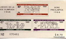 MEXIQUE BLOC   DE  TIMBRES   OLYMPIQUES 1968    KA42