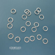 20PC Solid Sterling Silver 5.5mm 19 Gauge/0.9mm Open Jump Ring Connector #33439