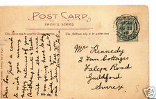 Genealogy Postcard - Family History - Kennedy - Guildford - Surrey  BH4200