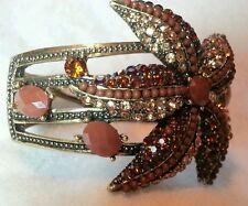 Brown Rhinestone Starfish Cuff Bracelet- A Nice Show Piece