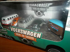 GREENLIGHT 1/64 MOTOR WORLD VW DIORAMA VOLKSWAGEN BUG, BETTLE, BUS, DRIVE IN