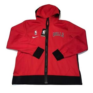 Nike NBA Chicago Bulls Showtime Nike Therma Flex Hoodie Red CN4016-657 Size XL