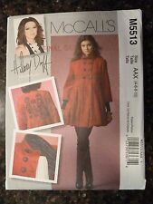 McCalls M5513 Hilary Duff Coat Original 2007 Pattern size 4/6/8/10 Uncut