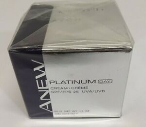 Avon New Sealed ANEW Platinum Day Cream SPF/ FPS 25 UVA/UVB Wt. 1.7 Oz.