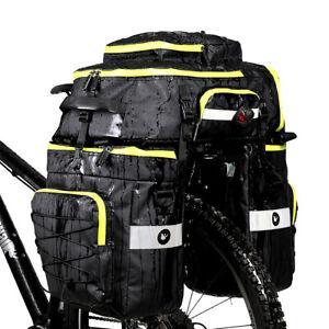 Rhinowalk Fahrradtasche 3in1 Gepäckträgertasche Satteltasche Schultertasche 75L