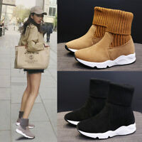Women's Snow Boots Sports Winter Casual Athletic Warm High top Running Sneakers