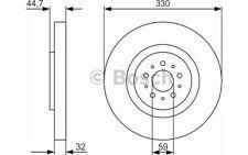 BOSCH Disco de freno (x2) 330mm ventilado ALFA ROMEO 156 147 GT 0 986 479 593