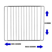 Wide Universal Oven Grill Shelf Cooker Rack Extendable Chrome 310 x 350 - 600 mm