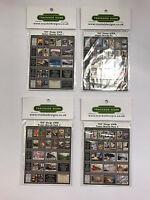 GWR - Model Railway Die Cut Advertising Poster Board Bundle Pack - OO Gauge