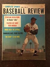 Summer 1961 Baseball Review Complete Sports Willie Mays Mickey Mantle