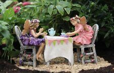 Afternoon Tea – 5pc set Table Chairs Fairies WS 1723 Miniature Fairy Garden