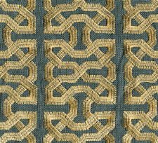 Kravet Couture Embroidered Linen Fabric Ceylon Key South Seas 8.65 yd 31459-514