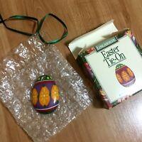 Longaberger Easter Egg Tie on Pottery #30007 Necklace Ornament Charm Egg NIB