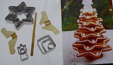 Keksausstecher Tannenbaum in 3D / 3D Effekt / Kekse Weihnachten Tannenbaum 16tlg