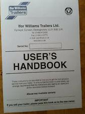 Ifor Williams Trailer Handbook & Instruc Reg Service Manual and wiring diagrams