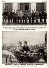Generalfeldmarschall v.Mackensen in Konstantinopel * 2 Bilddokumente 1916