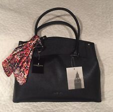 LONDON FOG NEW SHOPPER TOTE HANDBAG WITH MULTI COLOR SCARF