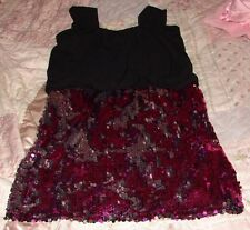 HOLLYWORLD GIRLS SIZE 14 GORGEOUS BLACK SEQUIN SKIRT DRESS