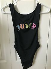 JUICY Couture One Piece SWIMSUIT Black XS Colorful Black Label