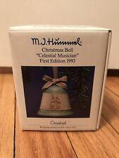 Nib M.J. Hummel 1993 Christmas Bell Ornament Goebel Germany Celestial Musician