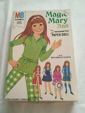 Vintage MAGIC MARY Ann MAGNETIC PAPER DOLL 1972 Milton Bradley Many Outfits