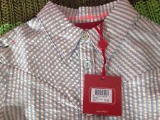 Oilily Girl's Blue/white/metallic Striped Blouse Size EU 128 Age 8 Years