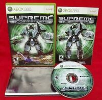 Supreme Commander w/ Poster - Microsoft Xbox 360 Complete Game Tested ! 1 Owner