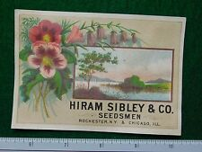 1870s-80s HIRAM Sibley & Co seedsmen Seedhouse Vittoriano TRADE card F26