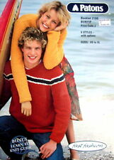 Patons Knitting Pattern Book- SIX STYLES FOR TEENS - XS to XL in Bunyip Yarn VGC