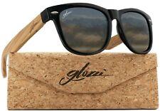 glozzi Sonnenbrille Holz für Damen und Herren mit Holzbügeln Polarisiert
