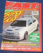 FAST CAR MAGAZINE FEBRUARY 1994 - SUPER GOLF