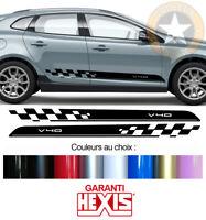 2 X BANDES BAS DE CAISSE POUR VOLVO V40 AUTOCOLLANT STICKER BD540-65