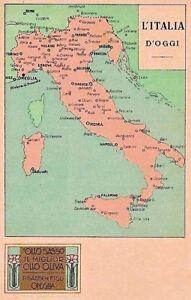 Pubblicitaria Olio Sasso P. Sasso e Figli Onegna L'Italia d'oggi PC Circa 1920