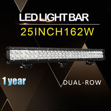162W 25inch LED Light Bar SPOT FLOOD DUAL ROW FOR Offroad Truck BOAT Car 24/26
