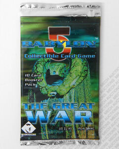 Babylon 5 CCG Great War Edition 10-Card Booster Pack Sealed New Collectible Game