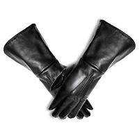 MEN MEDIEVAL RENAISSANCE COSTUME COSPLAY SWORDSMAN LEATHER GLOVE GAUNTLET