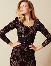 NWT Authentic AGENT PROVOCATEUR Black *AUDREY WASPIE* Stretch Dress UK-8 US-4 S